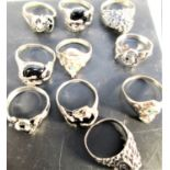 Bag of 10 assorted Thai rings