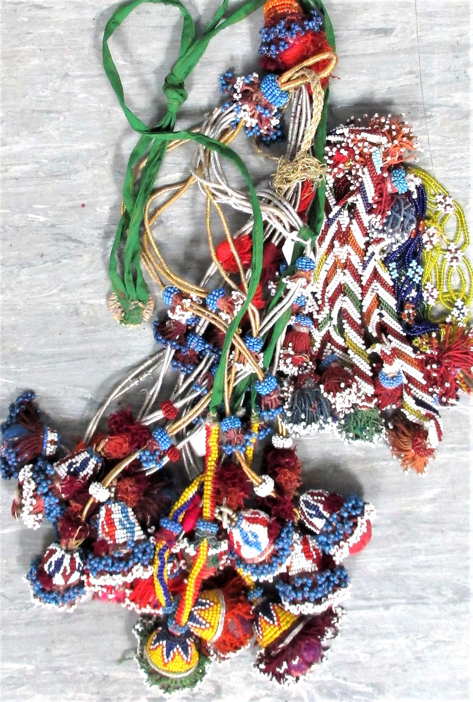 4 x Tassels. North Afghanistan . 40cm. New