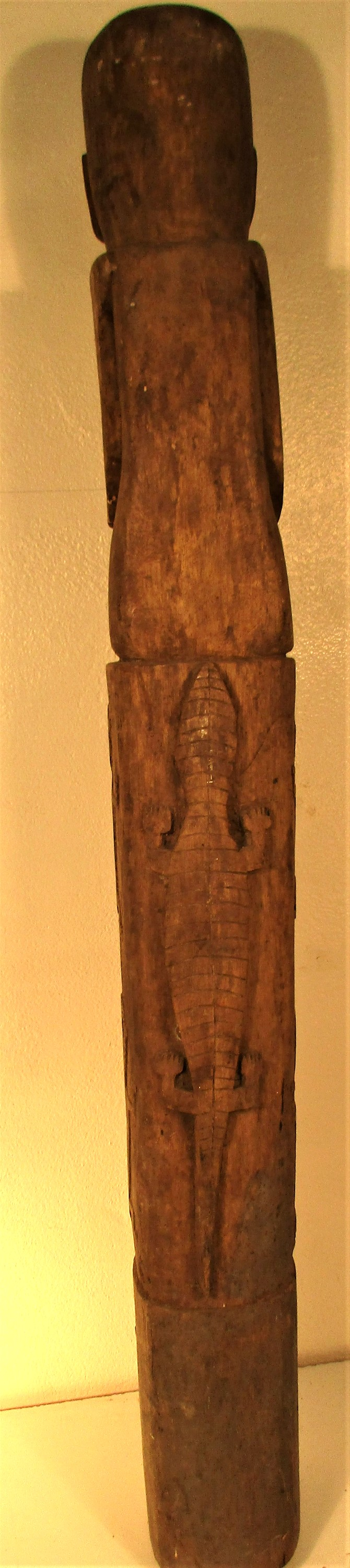 A house post sculpture from Sumba. It is part of the ritual of death that a sculpture of the - Image 2 of 4