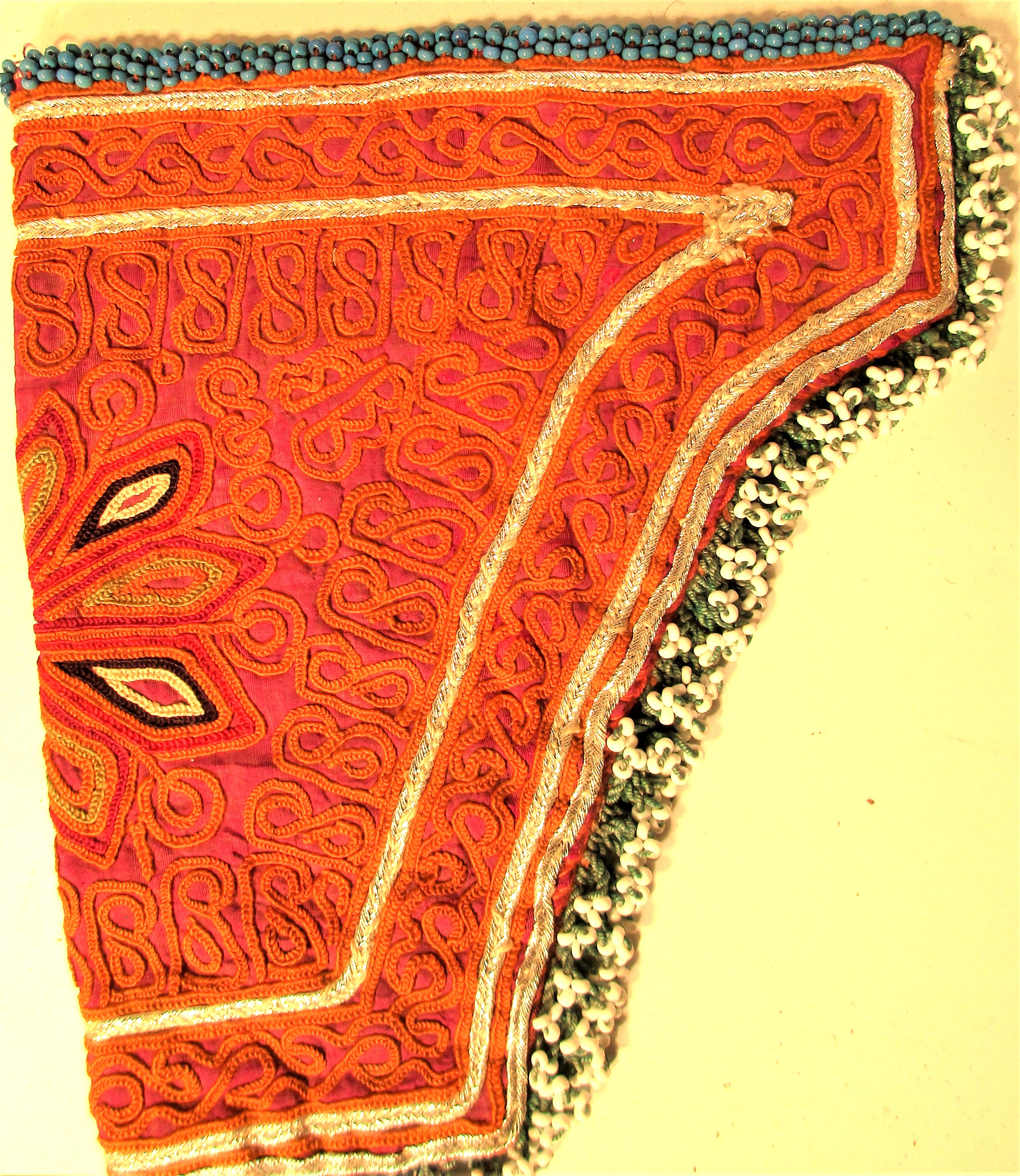 Embroidered pistol holder from Ghazni. Uzbek chain embroidery. If he has got one, every woman must