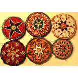 6 x Gul-i-peron. These discs are widely used throughout central Asia. They have a long history
