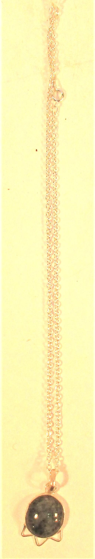 Jasper pendant on chain. 25cm