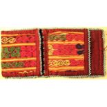Purse. There are tribal and regional traditions in the pattern and type of stich in every purse.
