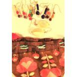 Bag of 5 pairs assorted semi precious stone earrings