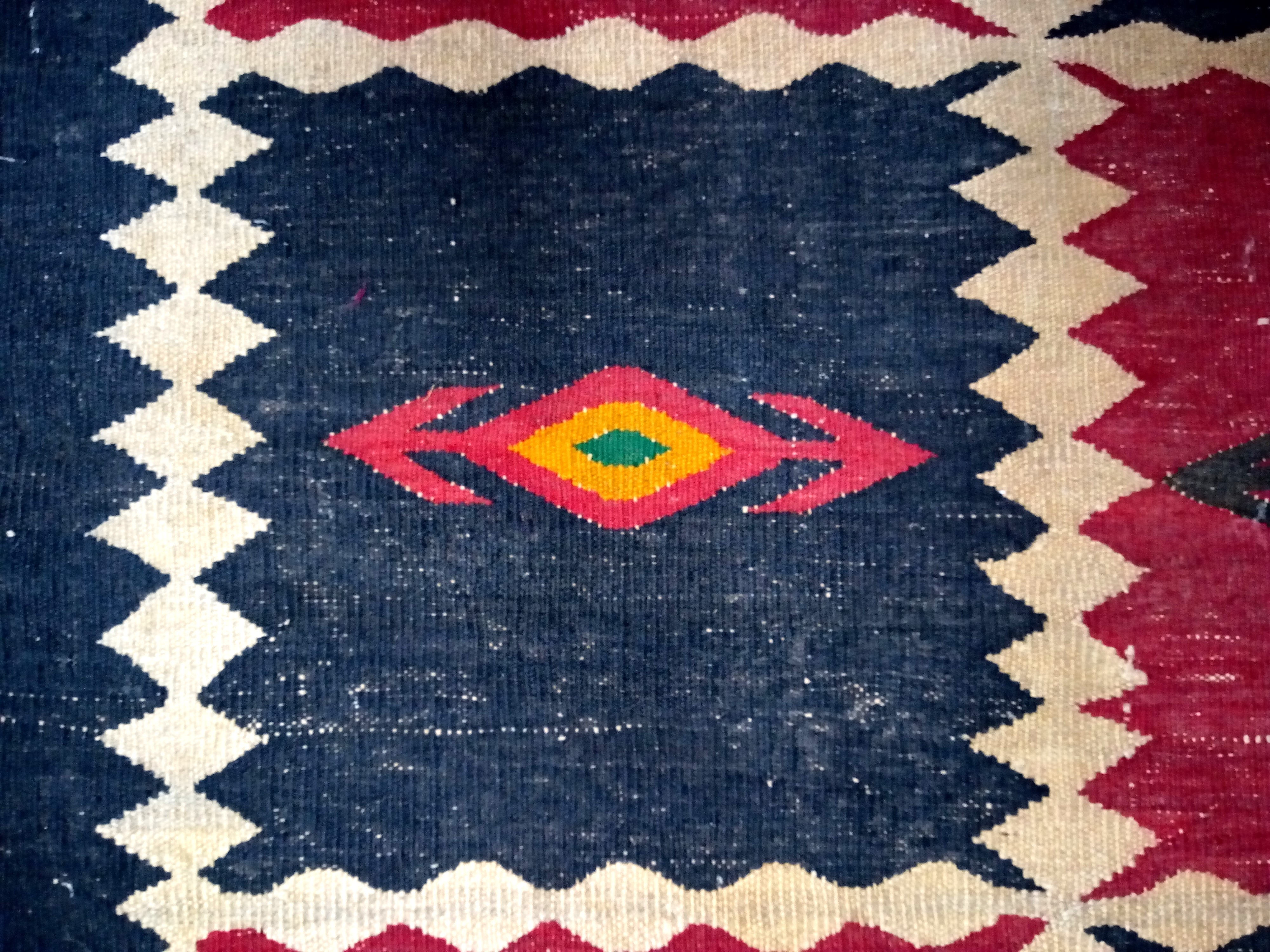 Afghan Kilim. This large, heavy rug is from the Labijar region of north Afghanistan. 420 x 195cm. - Image 2 of 2