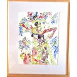 Water colour painting by Yanwar of a Legong dancer. Signed Bali 2002. 48 x 40cm. Notes: We met the