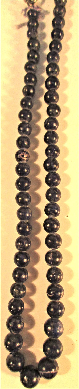 Graded lapis lazuli stone necklace 20cm.