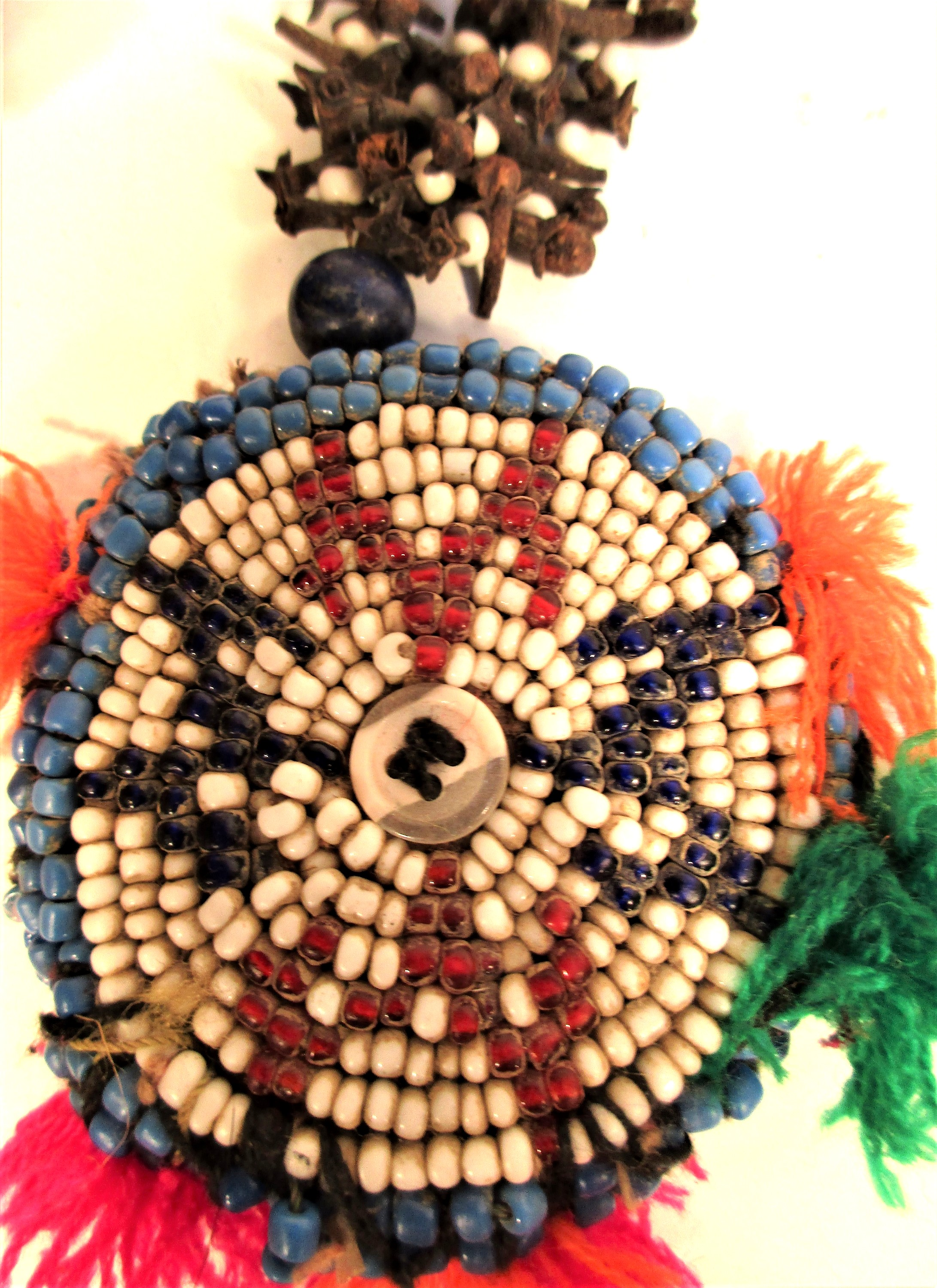 Afghanistan. Mirror, cloves and gul-i-peron. This would be hung amongst cloths, textiles and - Image 2 of 2