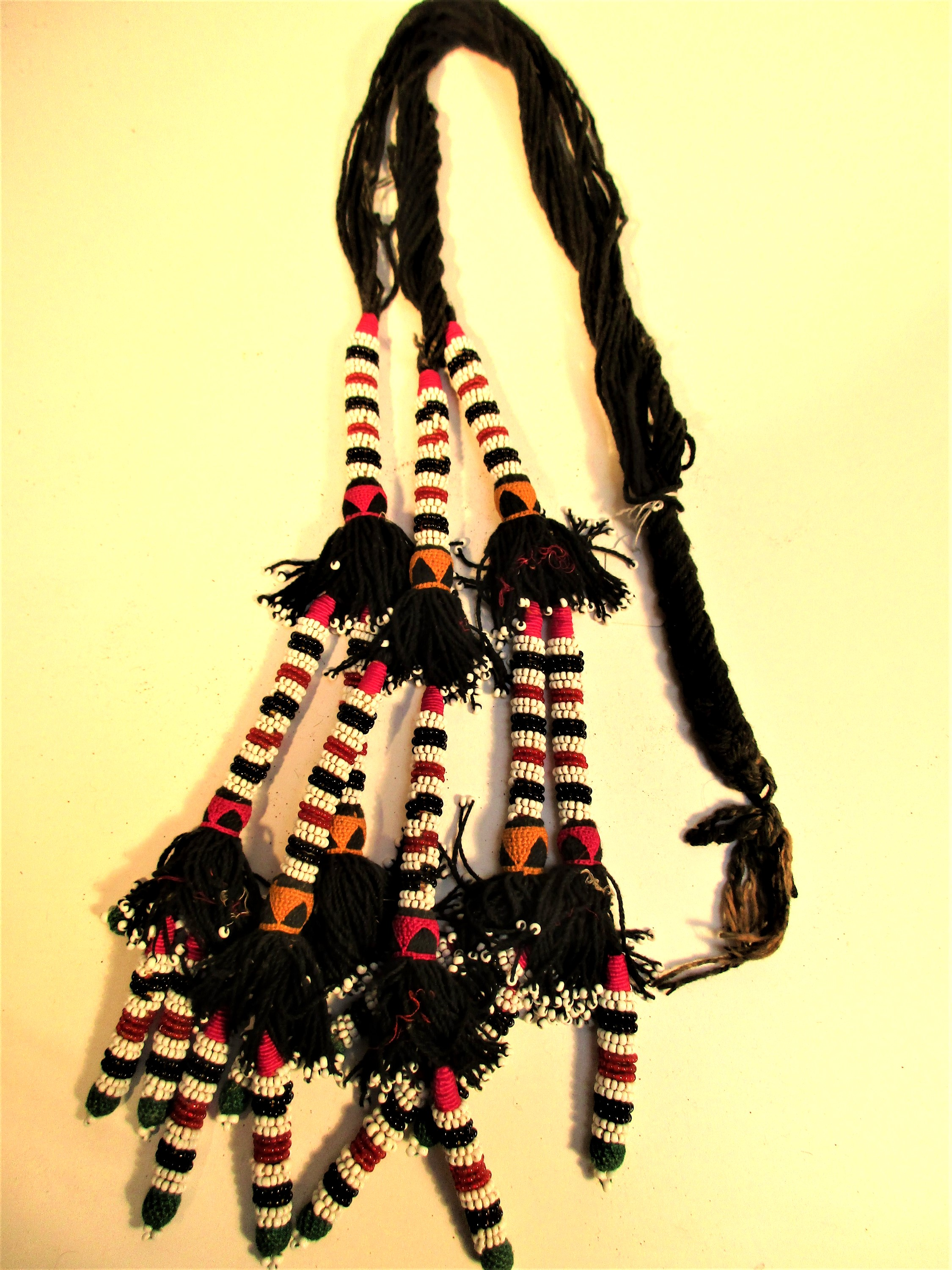 Turkoman or Uzbek hair braid hair extension. This would be used by a teenage girl or young woman