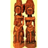 Wedding couple from Gianyar in central Bali. Known as Loro Blonyo, they are carved for the bride and