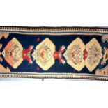 Persian Bijar Kilim. Slit woven in wool with cotton warps by the Kurds of this Area in west Iran.