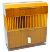 A vintage 'Decola' radiogram, by The Decca Record Company Limited, Rd. Desn. 844055, 'Decola' No.