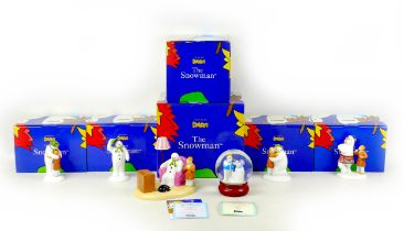 A group of six Coalport classics ?The Snowman? figurines and ornaments, comprising two limited
