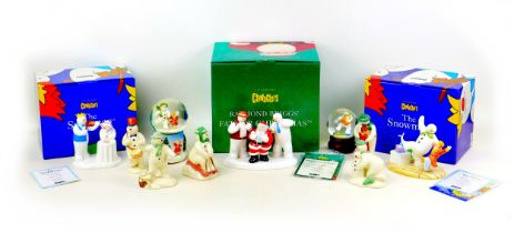 A group of Coalport classics and other ?The Snowman? figurines, comprising limited edition