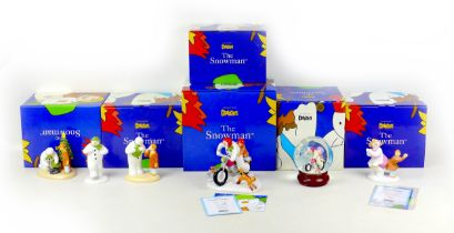 A group of six Coalport classics ?The Snowman? figurines and ornaments, comprising limited edition a