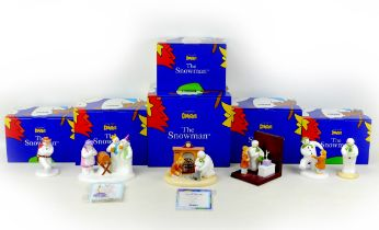 A group of six Coalport classics, ?The Snowman? figurines and ornaments, comprising two limited