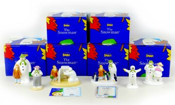 A group of six Coalport classics, ?The Snowman? figurines and ornaments, comprising an exclusive