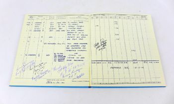 A 1976 copy of Wing Commander Guy Gibson's 'Royal Air force Pilot's Flying Log Book No.2' with