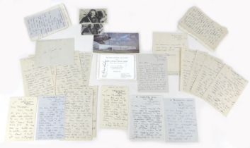 A collection of RAF WWII signatures, including Douglas Bader and Kenneth Christopher Doran, who