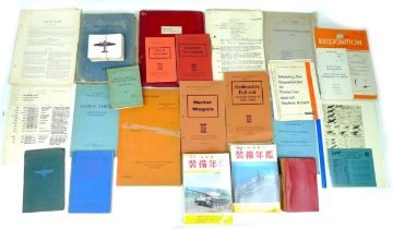 A collection of aircraft identification books and other offcially-produced miltary ephemera,