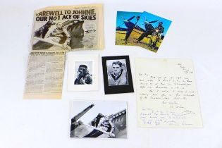 A WWII handwritten letter from British Fighter Pilot Wing Commander Johnnie Johnson, dated '8 July
