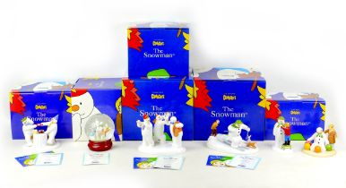 A group of six Coalport classics, ?The Snowman? figurines, comprising three limited edition