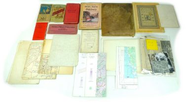 A collection of thirty five maps, including WWII Ordnance Survey military maps, 'Lighthouses, Fog