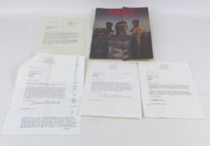 A collection of letters from Elizabeth Frink (1930-1993) English Sculptor, dating from May 1986, all