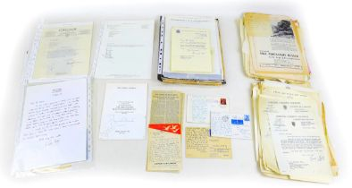 A collection of correspondence between Christopher Elliott and persons of interest, including WWI