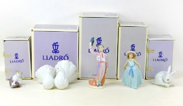 Five Lladro figurines, comprising 'Little Matador' with impressed and number '6178' to its base,