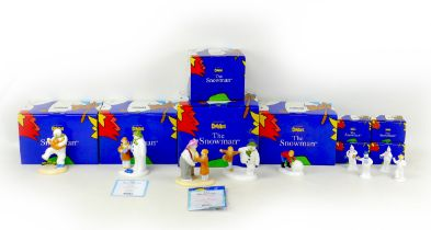 A group of nine Coalport classics, ?The Snowman? figurines, comprising a limited edition ?The