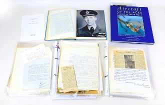 A collection of British Army and RAF ephemera with some signatures, including correspondence with