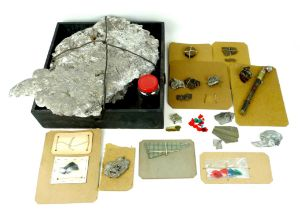 A collection of aircraft relics, including those related to 66th Squadron crashes (possibly from