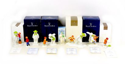 A group of seven Royal Doulton ?The Snowman? figural groups, comprising six limited edition sets, ?
