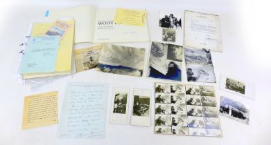 A collection of Artist signatures and related ephemera, including a handwritten letter from Alfred