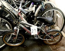A Piranha chrome painted BMX bike.
