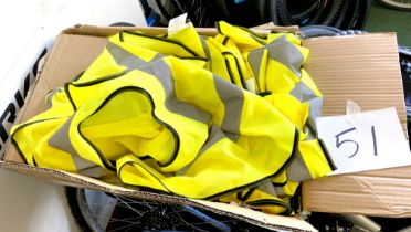 A quantity of high-vis vests / tabards. (1 box)