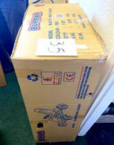 A boxed Bumper Mini Gokart.