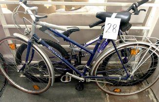 A Raleigh Zenith Town & Around dark blue painted lady's bike.