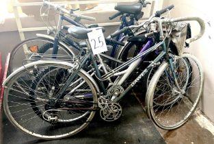 A vintage Dawes grey painted lady's racing bike.