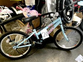 A Trax TR-20 pale blue painted child's bike.