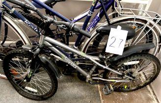 An Apollo Spektor dark silver painted child's bike.
