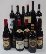 French, Italian and Spanish Red Wine: