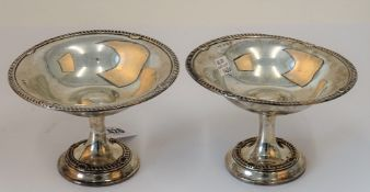 A pair of Edwardian silver sweetmeat stands, A & J.