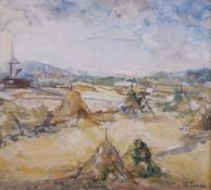 F*** Tonea (20th Century), An extensive landscape, signed 'F Tonea' (lower right), oil on canvas,