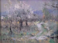 Philip Roberts (British, 20th Century), Blossoms in Provence, signed 'P Roberts' (lower left),