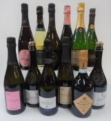 Italian, French and English Sparkling Wine: