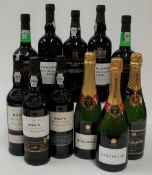Port and Champagne (11 bottles,