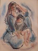 Thomas de Mello (Brazilian, 1906-1990), Mother and child,