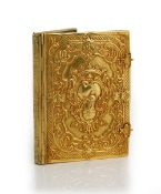 A gold mounted rectangular book binding, probably European 19th century, in the 18th century taste,